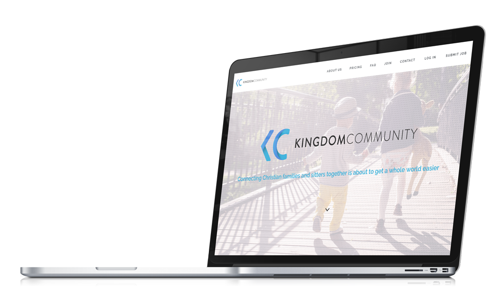 kingdom community home page web design and branding by king designs